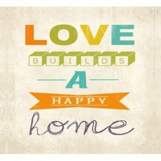 Happy Home Wall art Canvas 50x40x1.8cm