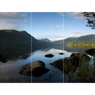 Lake Scene Triptych Wall Art Print