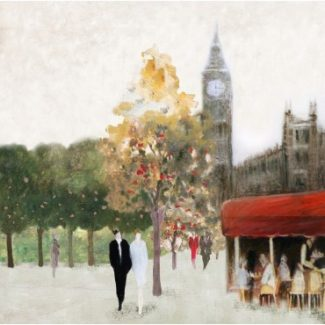Romantic London Canvas Wall Art