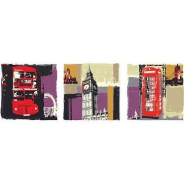 Set of 3 London Canvas WallArt