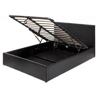 5ft black bed
