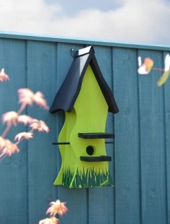 Bird Nesting Box Tweetie Pad - Green & Black