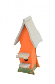 Bird Nesting Box Tweetie Pad - Orange & Grey