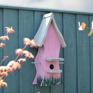 Bird Nesting Box Tweetie Pad - Pink & Grey