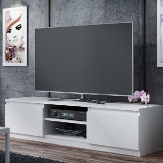 TV Media Storage Unit White