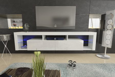 Large White Tv Unit