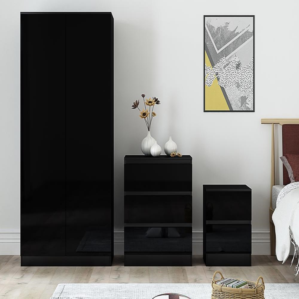 Super Black High Gloss 3 Piece Bedroom Furniture Set Iqgb Uk Download Free Architecture Designs Rallybritishbridgeorg