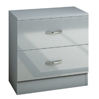 Chilton Grey Grey 2 Drawer bedside co